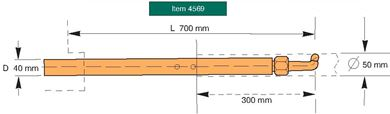 Picture of Reduced Size Arm D=40mm L=380-700mm