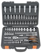 "Picture of 1/4"" 1/2"" Socket & Ratchet Handle Kit 72pc"