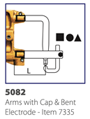 Picture of Arms c/w Cap and Bent Electrode L=107mm (Pair)